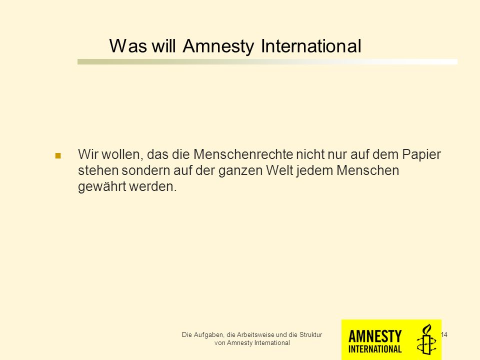 Was will Amnesty International