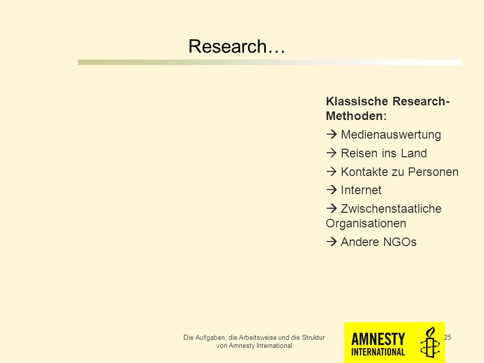 Research… Klassische Research- Methoden:  Medienauswertung