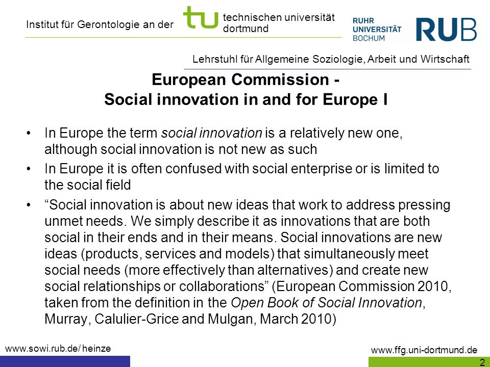 European Commission - Social innovation in and for Europe I