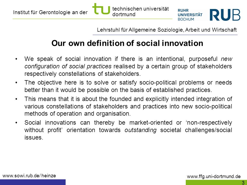 Our own definition of social innovation