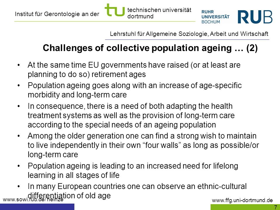 Challenges of collective population ageing … (2)