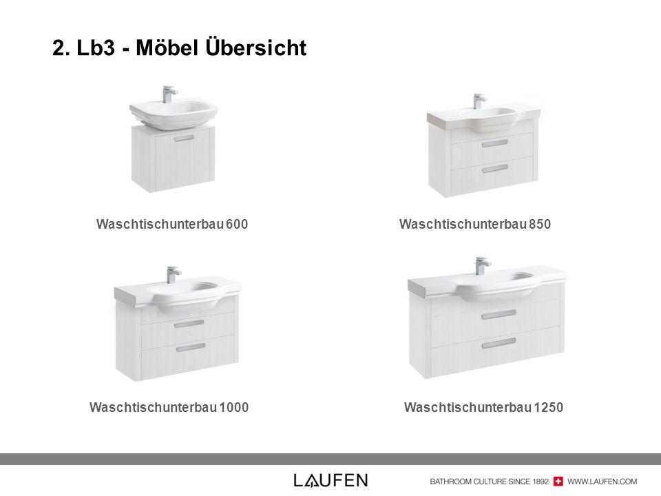 2. Lb3 - Möbel Übersicht Waschtischunterbau 600 Waschtischunterbau 850