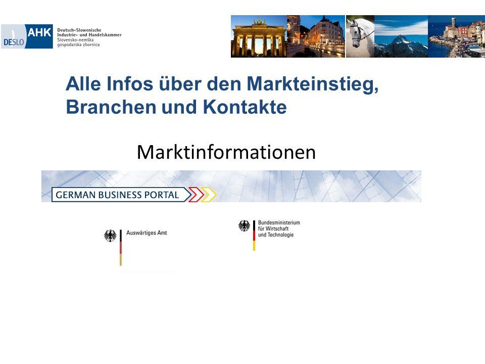 Alle Infos über den Markteinstieg, Branchen und Kontakte