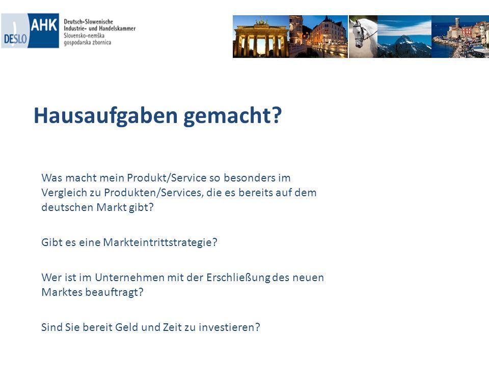 Hausaufgaben gemacht Was macht mein Produkt/Service so besonders im Vergleich zu Produkten/Services, die es bereits auf dem deutschen Markt gibt
