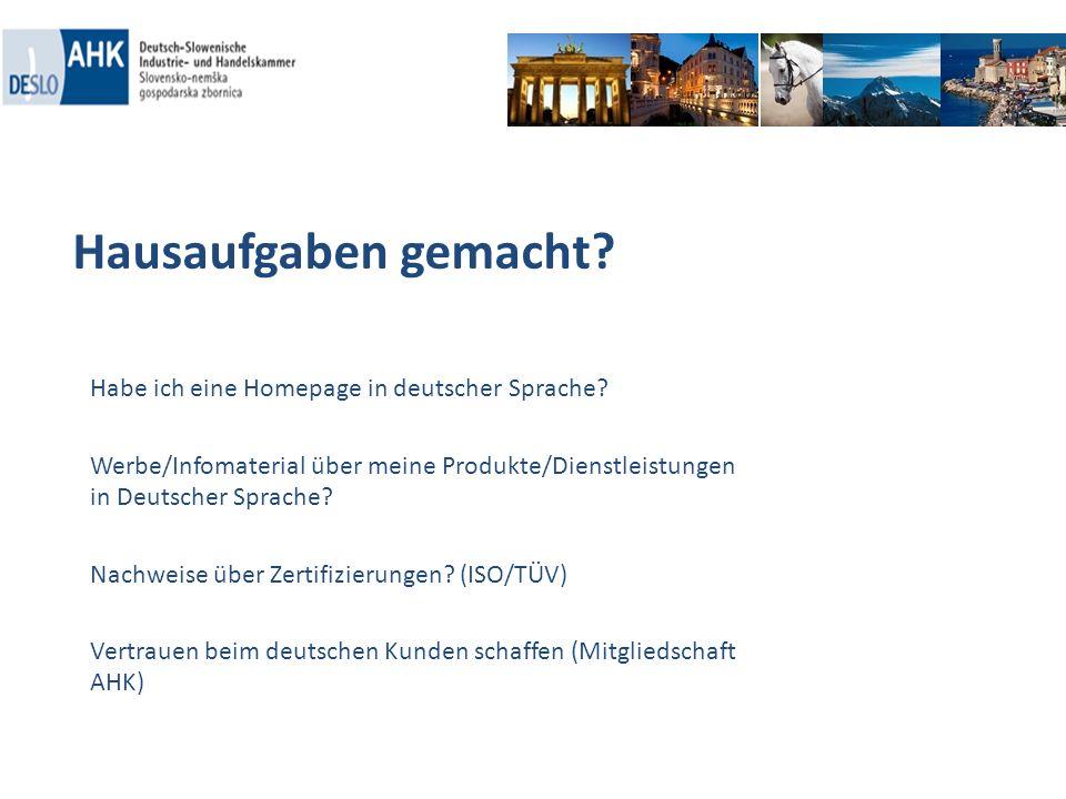 Hausaufgaben gemacht Habe ich eine Homepage in deutscher Sprache