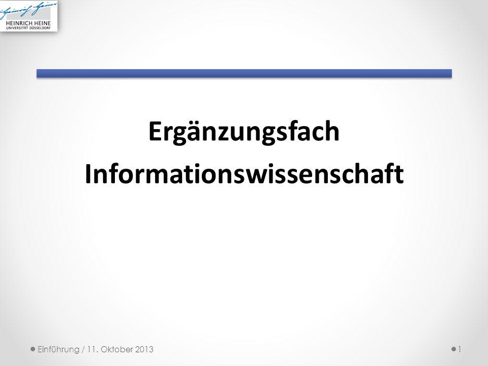 Ergänzungsfach Informationswissenschaft