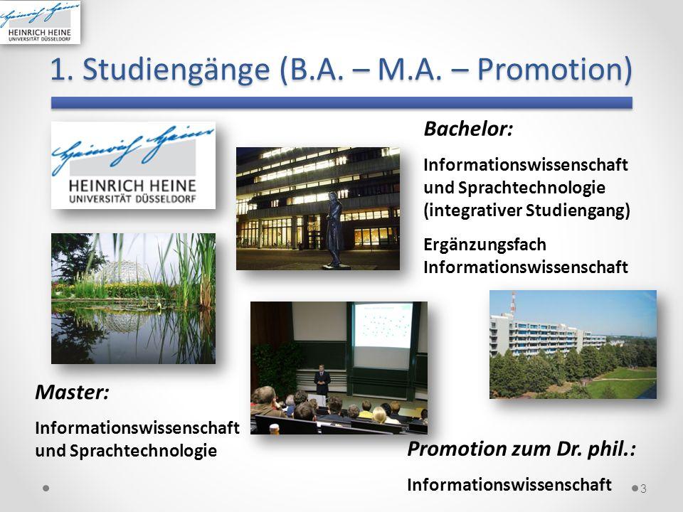 1. Studiengänge (B.A. – M.A. – Promotion)
