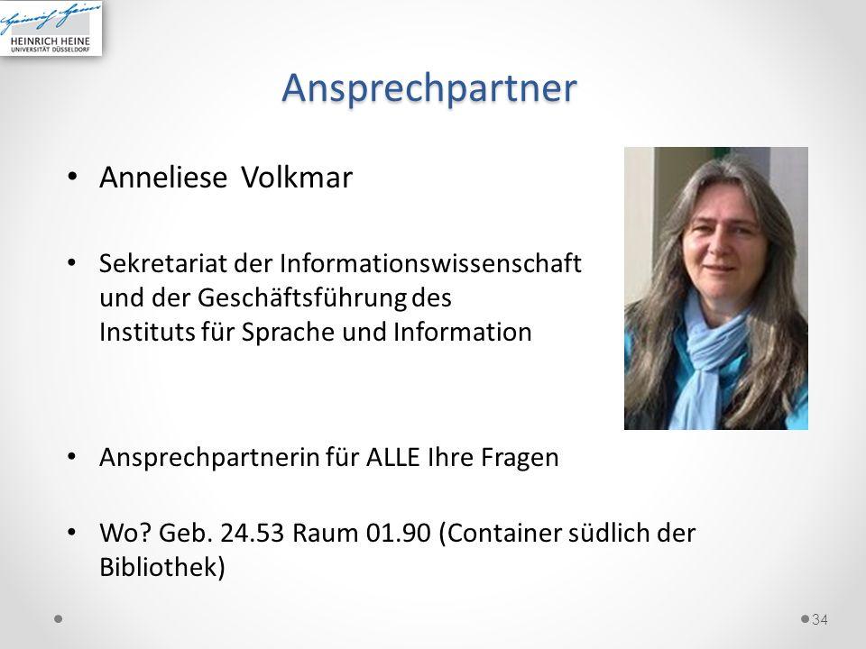 Ansprechpartner Anneliese Volkmar