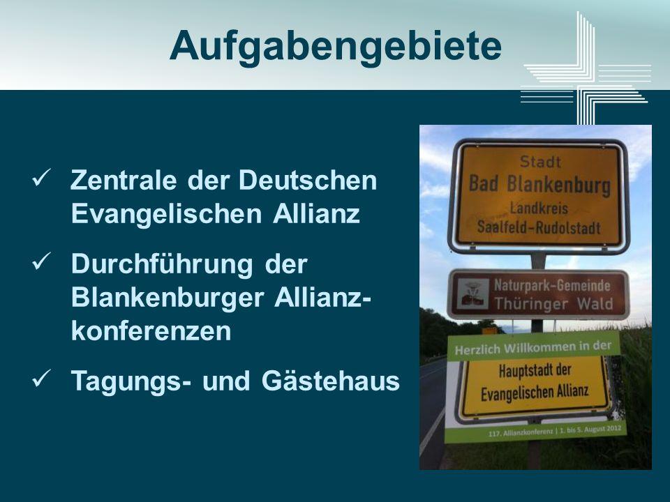 Aufgabengebiete Zentrale der Deutschen Evangelischen Allianz