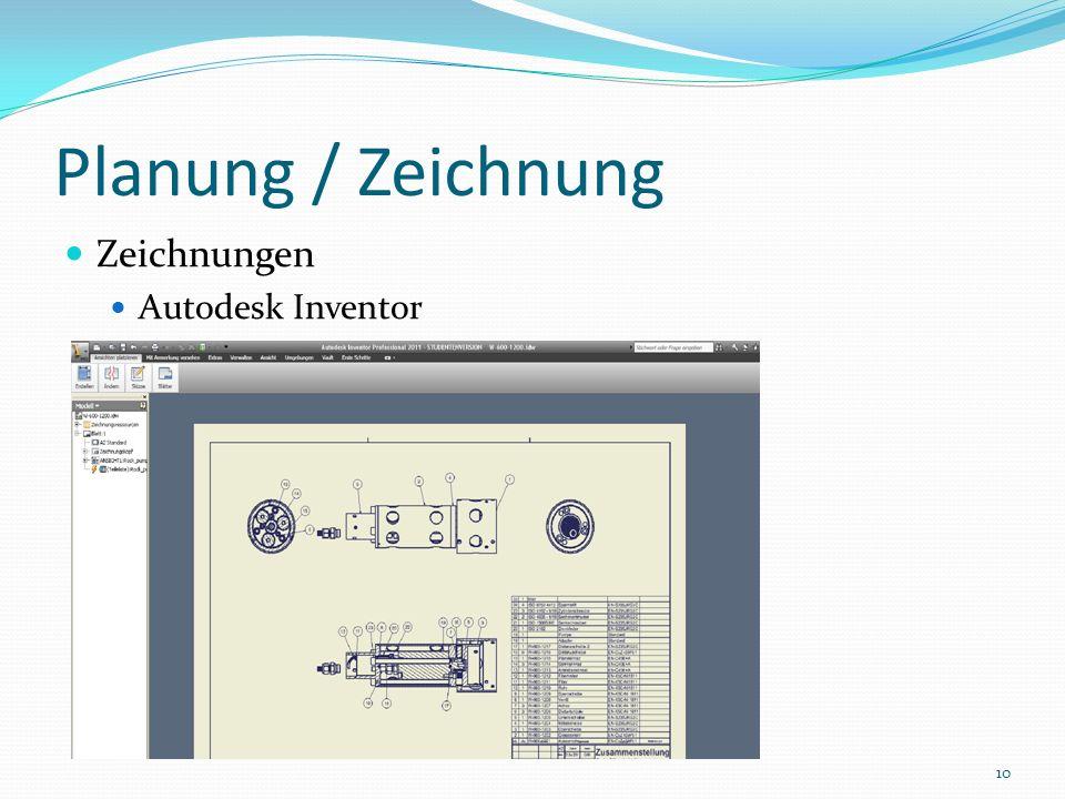 Planung / Zeichnung Zeichnungen Autodesk Inventor