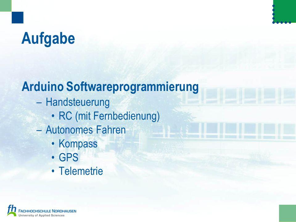 Aufgabe Arduino Softwareprogrammierung Handsteuerung
