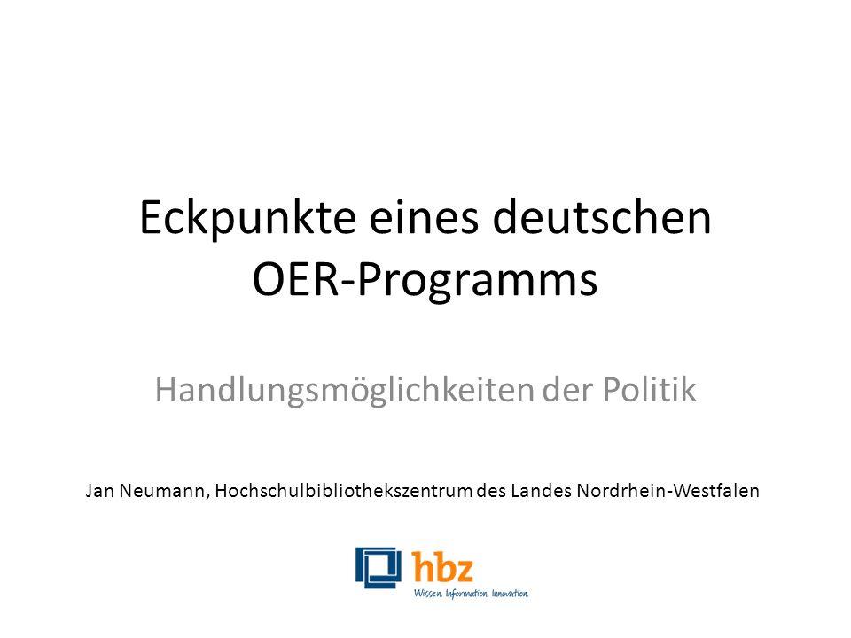 Eckpunkte eines deutschen OER-Programms