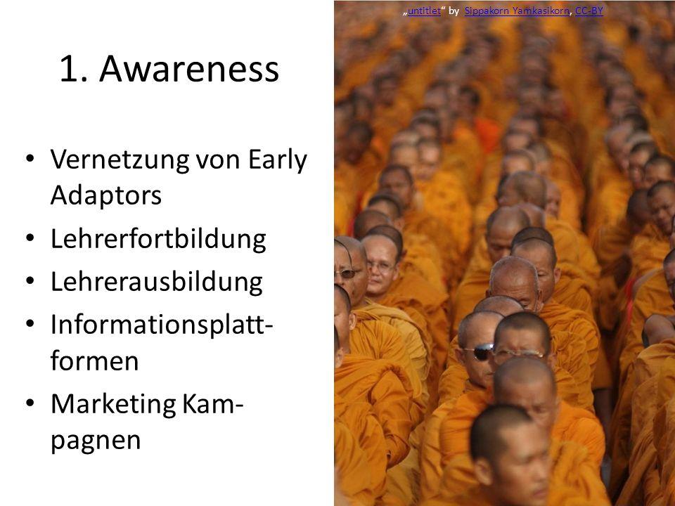 1. Awareness Vernetzung von Early Adaptors Lehrerfortbildung