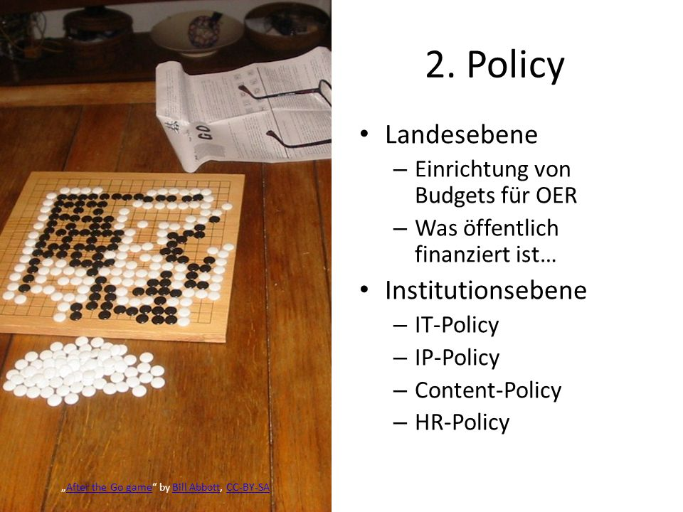 2. Policy Landesebene Institutionsebene