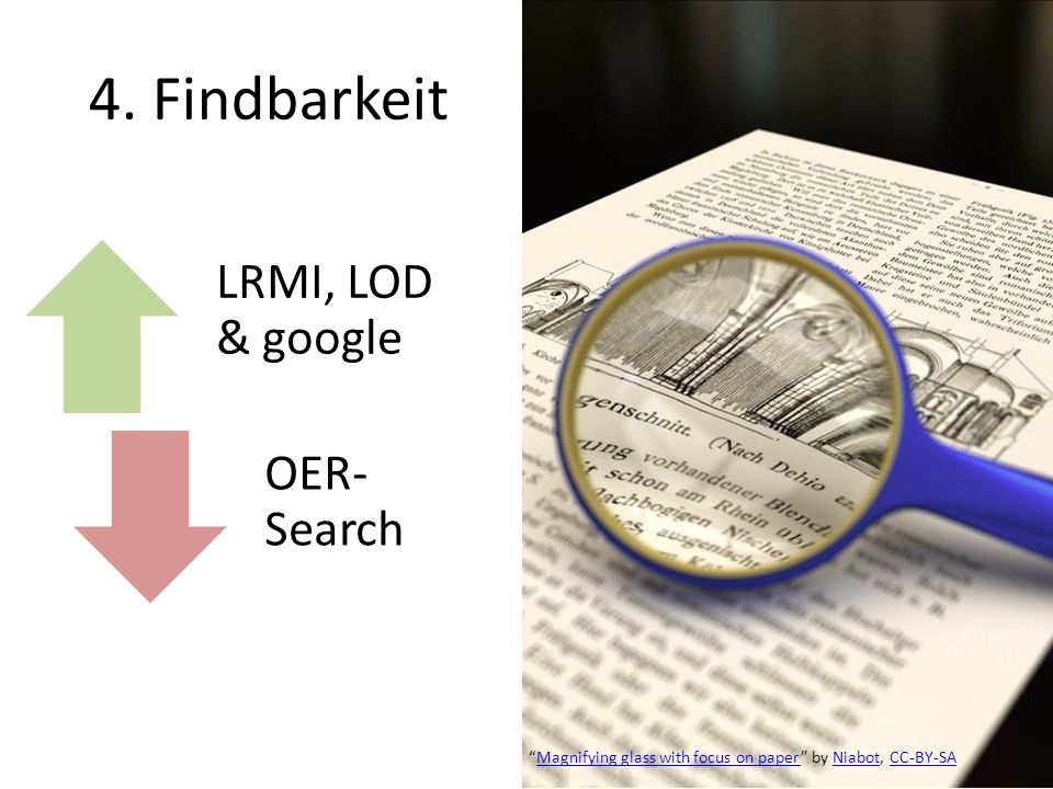 4. Findbarkeit LRMI, LOD & google OER-Search