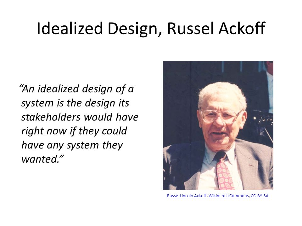 Idealized Design, Russel Ackoff