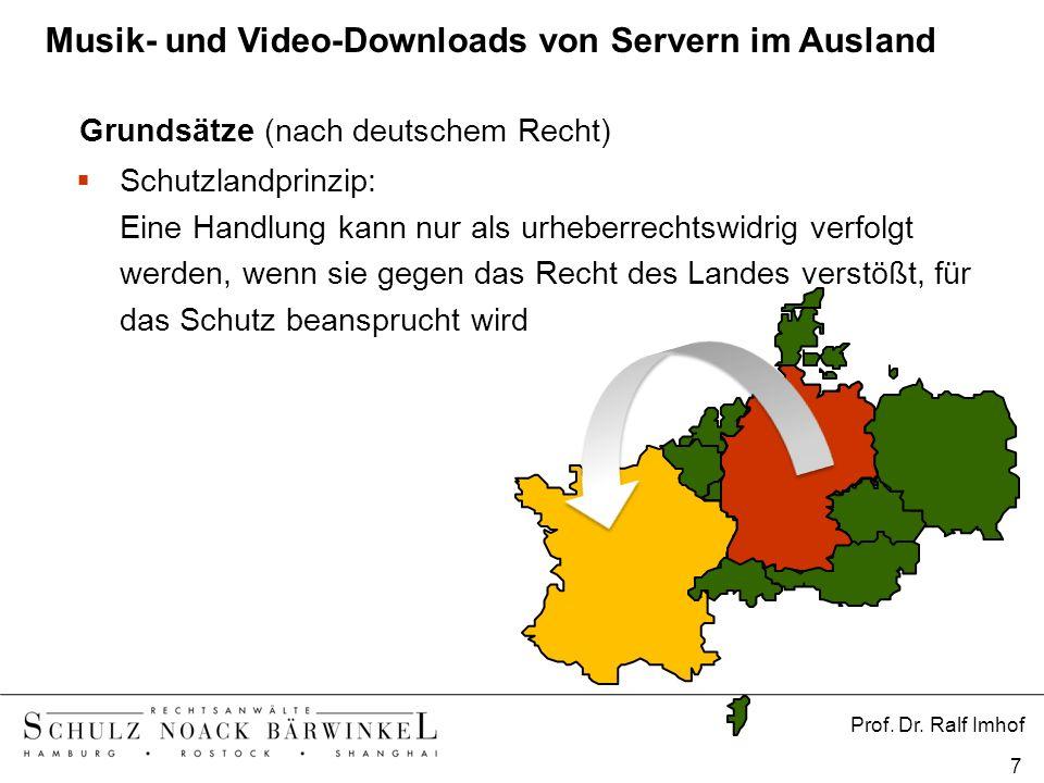 Musik- und Video-Downloads von Servern im Ausland