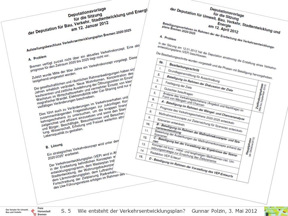 S. 5 Wie entsteht der Verkehrsentwicklungsplan. Gunnar Polzin, 3