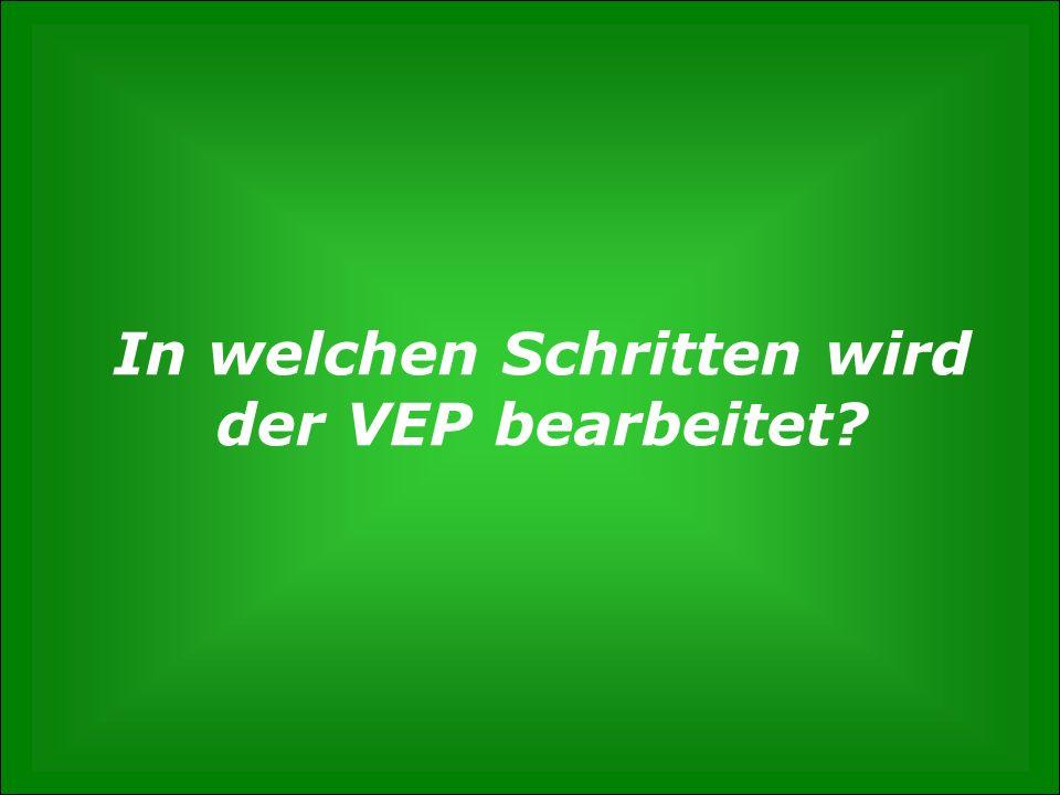 In welchen Schritten wird der VEP bearbeitet
