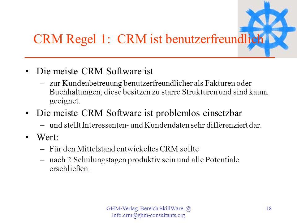 CRM Regel 1: CRM ist benutzerfreundlich