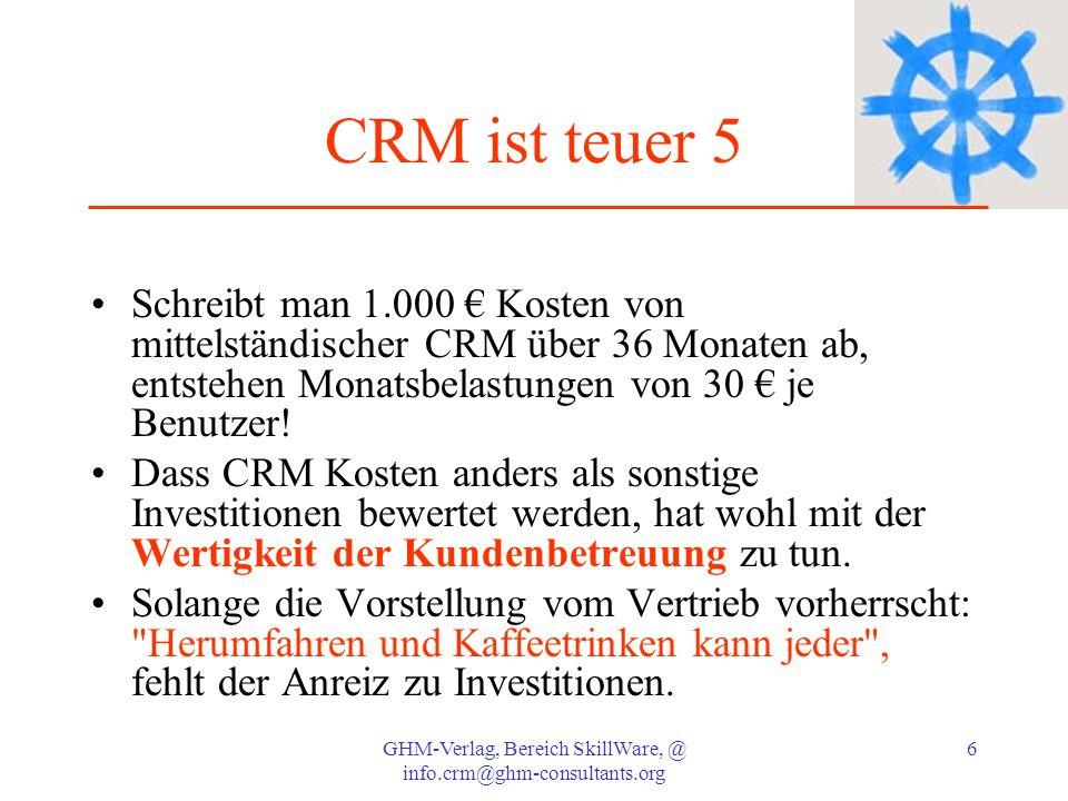 GHM-Verlag, Bereich SkillWare, @ info.crm@ghm-consultants.org