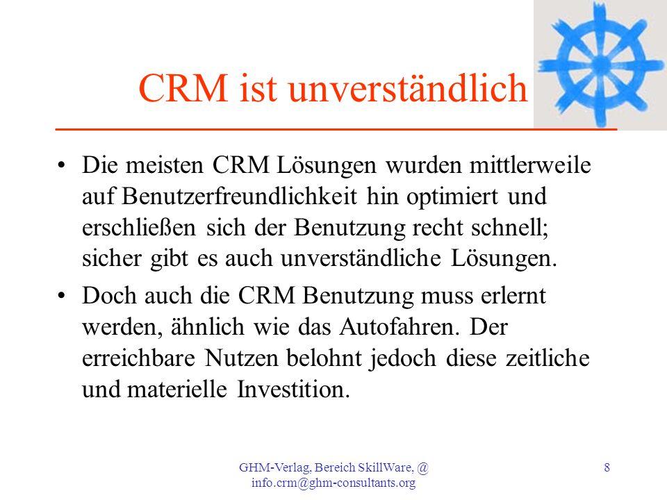 CRM ist unverständlich
