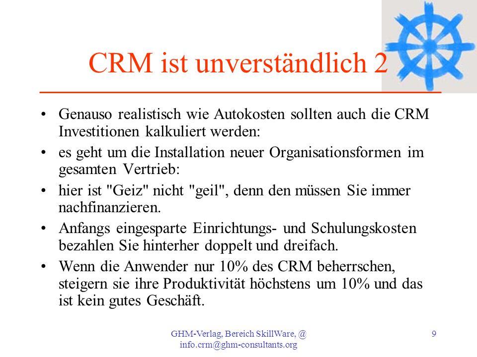 CRM ist unverständlich 2