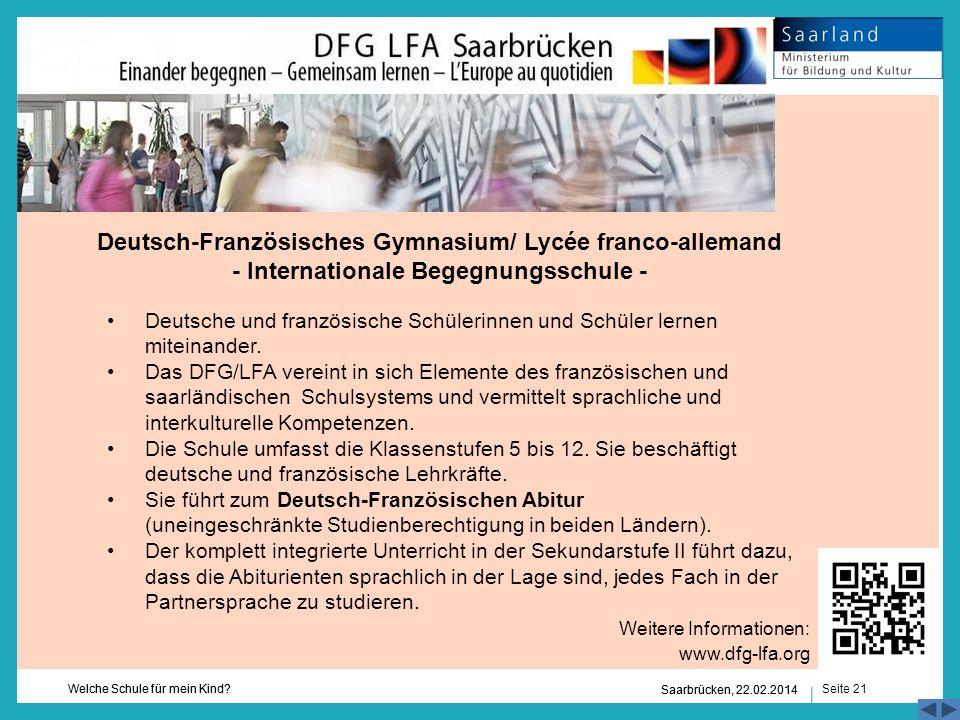 Deutsch-Französisches Gymnasium/ Lycée franco-allemand - Internationale Begegnungsschule -