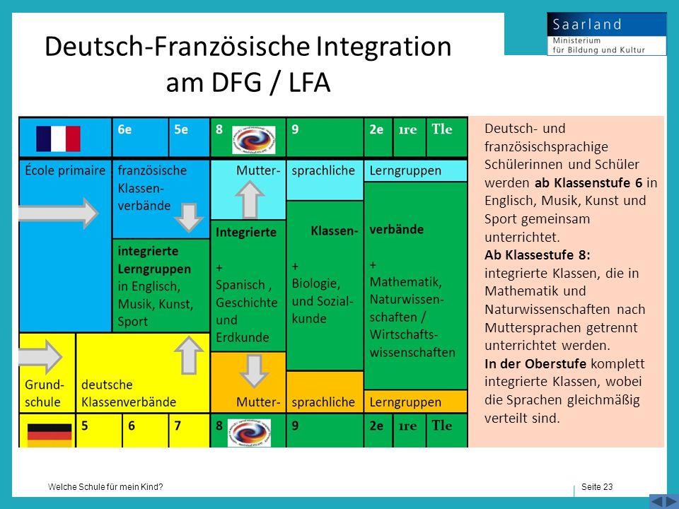 Deutsch-Französische Integration am DFG / LFA