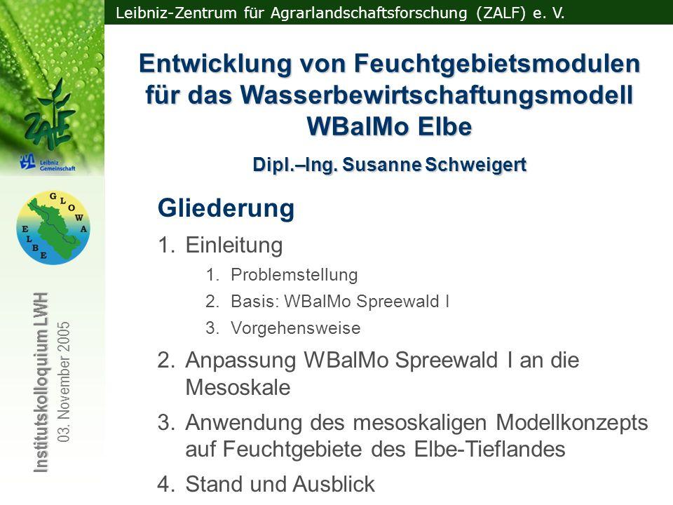 Dipl.–Ing. Susanne Schweigert