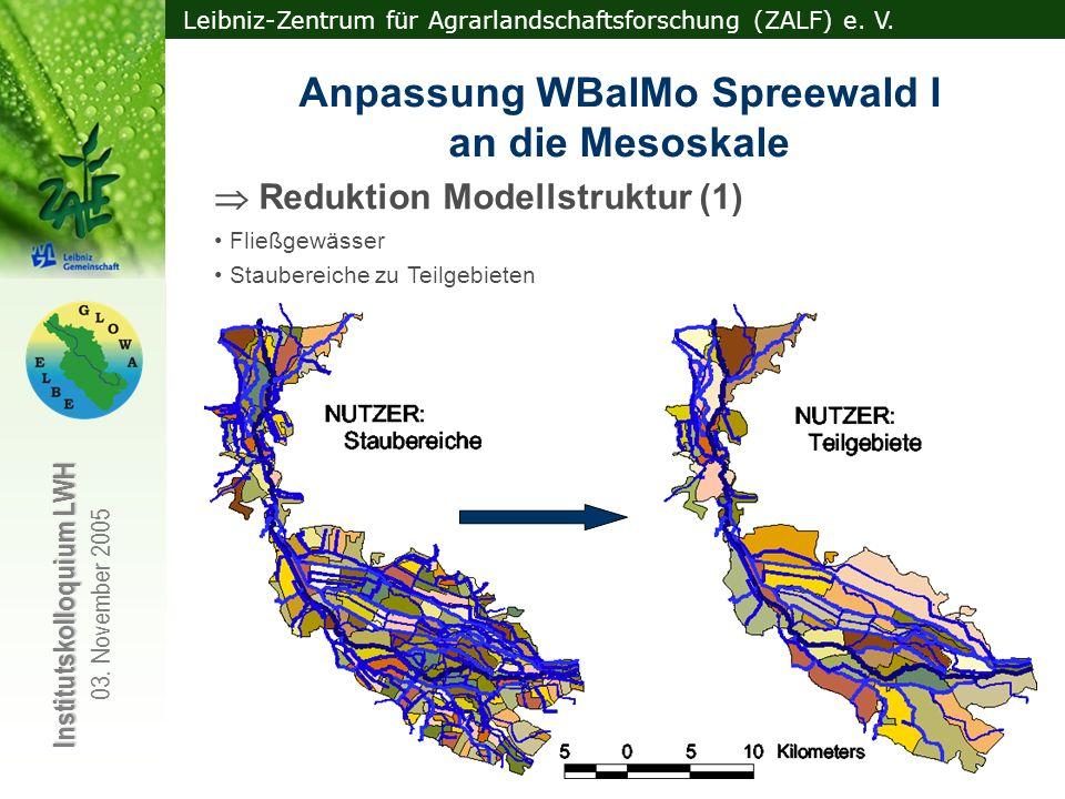 Anpassung WBalMo Spreewald I an die Mesoskale