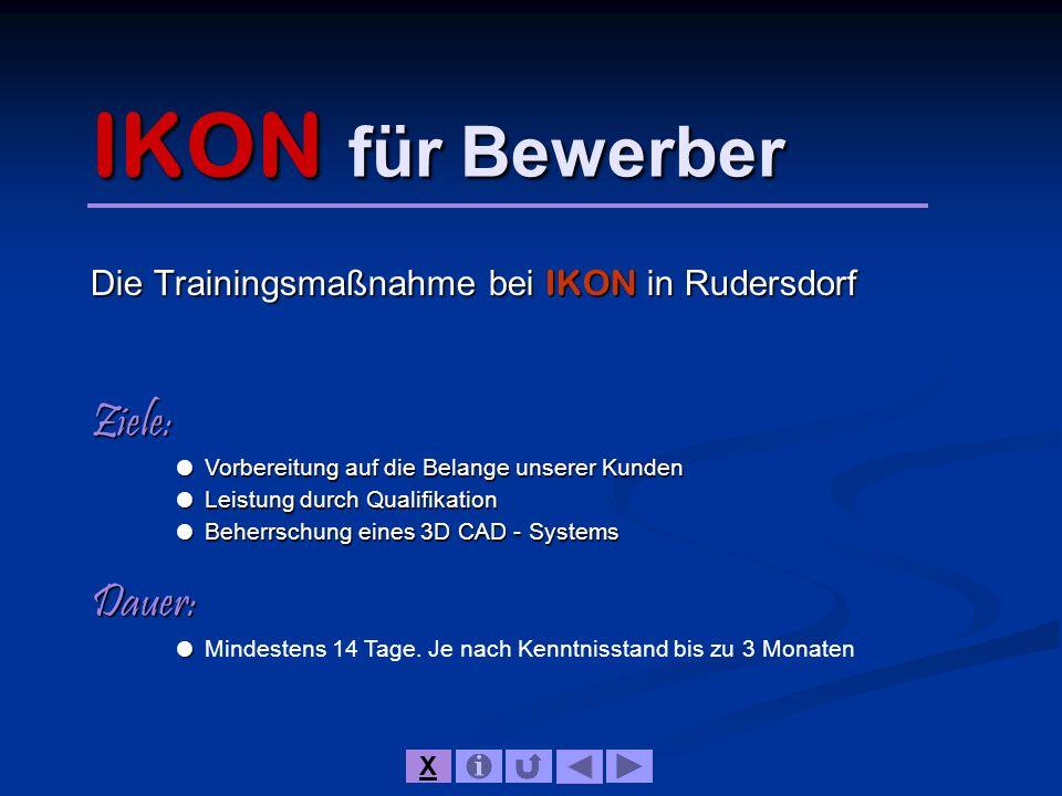 Die Trainingsmaßnahme bei IKON in Rudersdorf