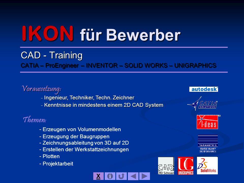 IKON für Bewerber CAD - Training