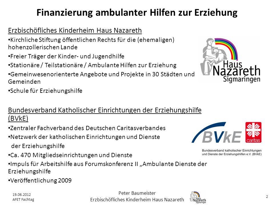 Finanzierung ambulanter Hilfen zur Erziehung