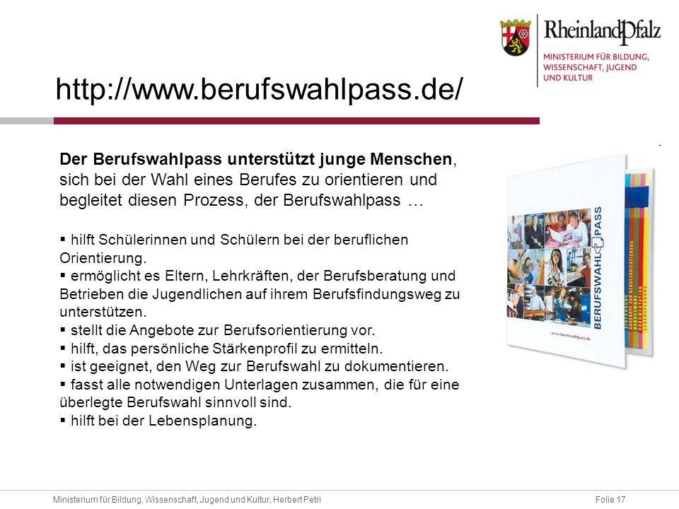 http://www.berufswahlpass.de/