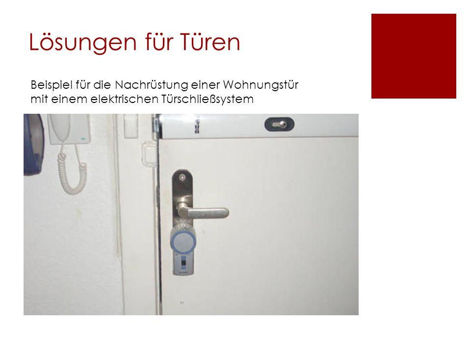 Lösungen für Türen Beispiel für die Nachrüstung einer Wohnungstür