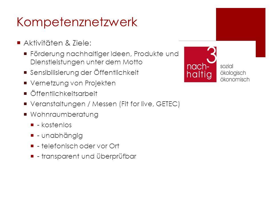 Kompetenznetzwerk Aktivitäten & Ziele: