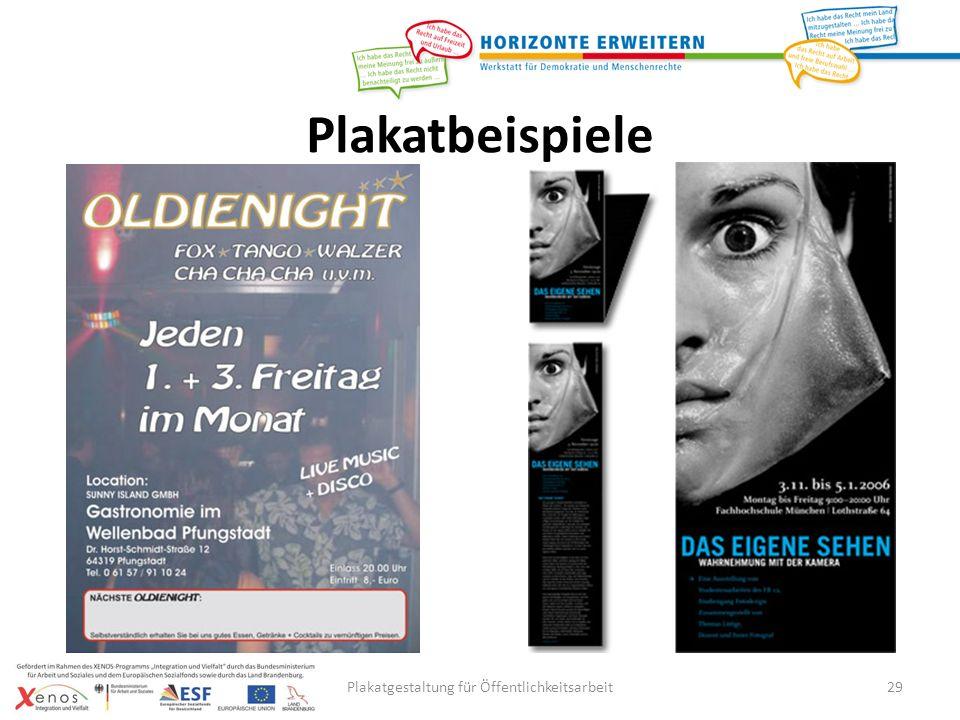 Plakatgestaltung für Öffentlichkeitsarbeit