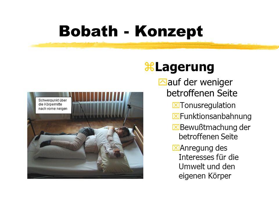 Bobath - Konzept Lagerung auf der weniger betroffenen Seite