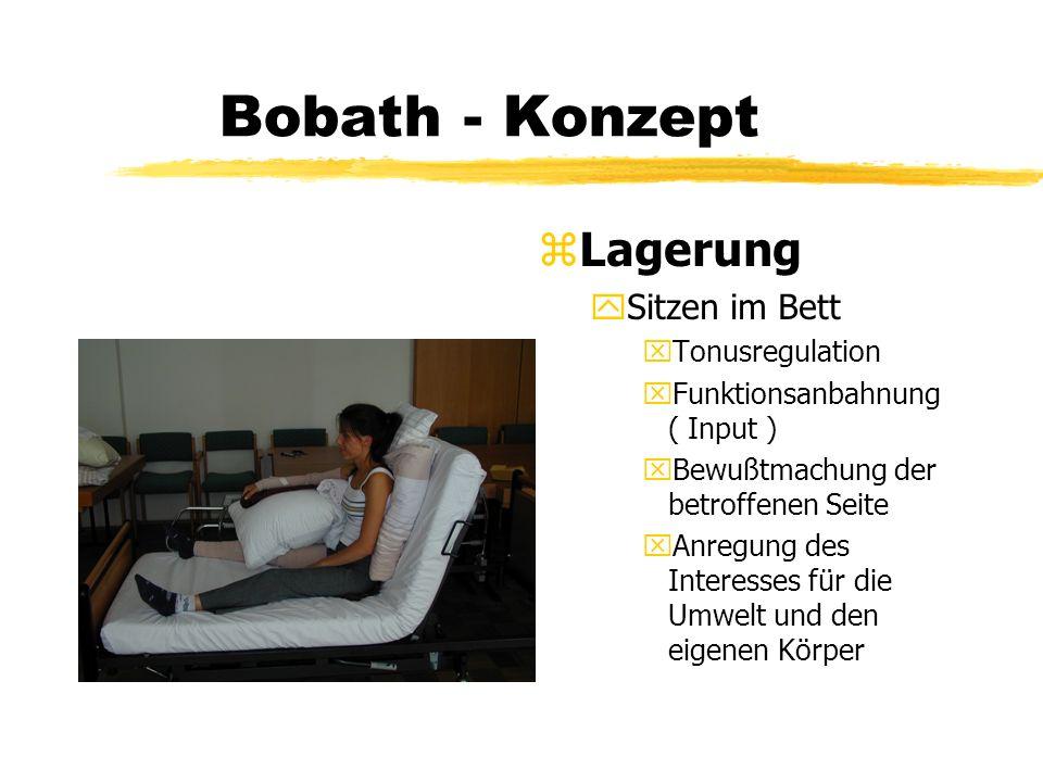 Bobath - Konzept Lagerung Sitzen im Bett Tonusregulation