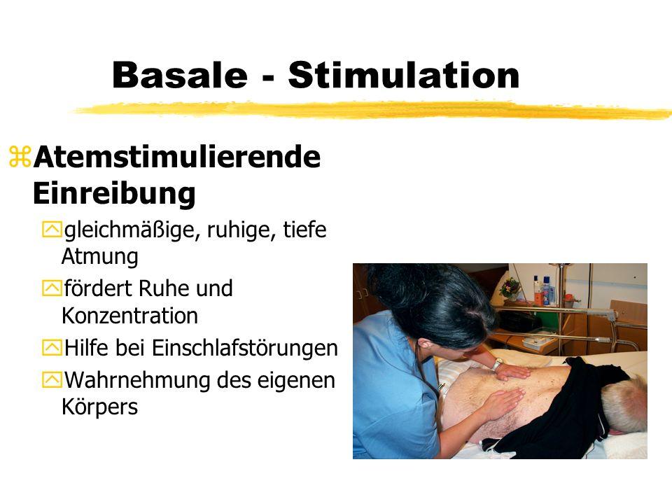 Basale - Stimulation Atemstimulierende Einreibung