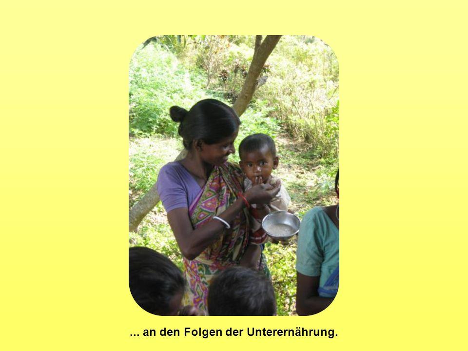 ... an den Folgen der Unterernährung.