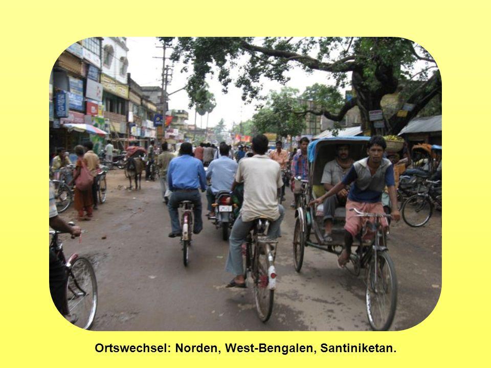 Ortswechsel: Norden, West-Bengalen, Santiniketan.