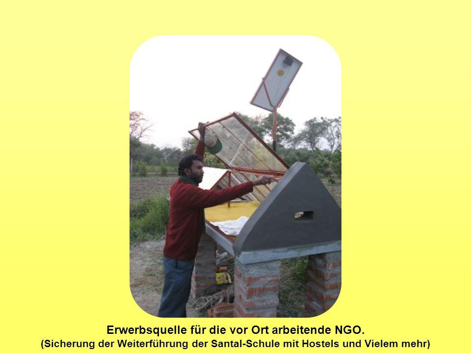 Erwerbsquelle für die vor Ort arbeitende NGO