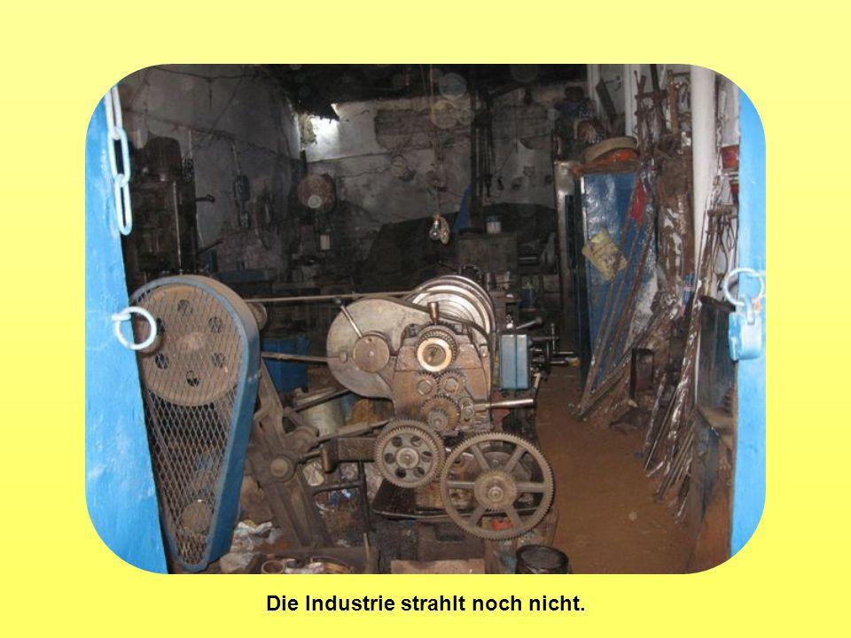 Die Industrie strahlt noch nicht.