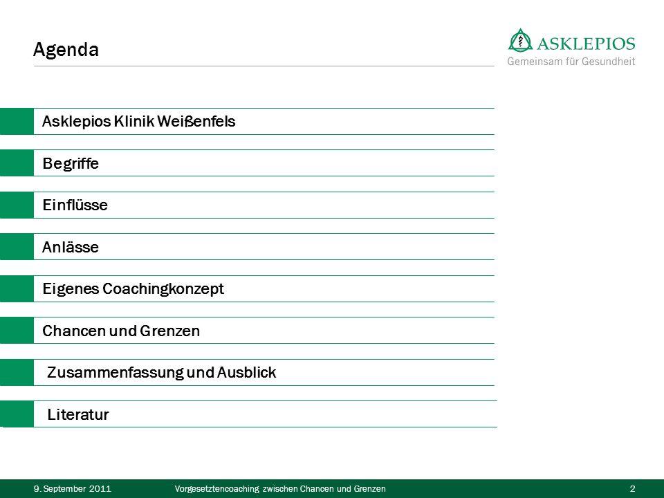 Agenda Asklepios Klinik Weißenfels Begriffe Einflüsse Anlässe