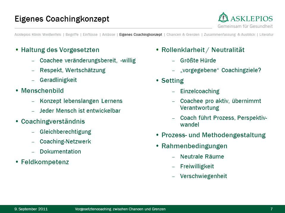 Eigenes Coachingkonzept
