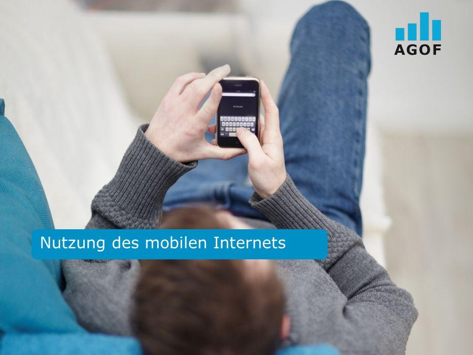Nutzung des mobilen Internets