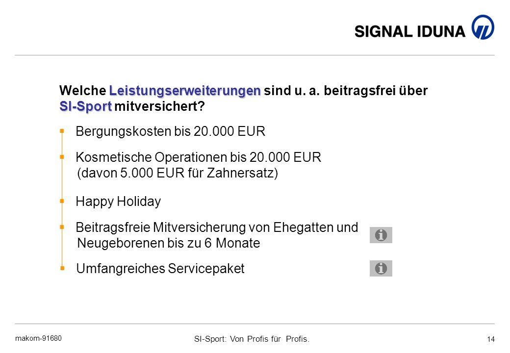 Bergungskosten bis 20.000 EUR