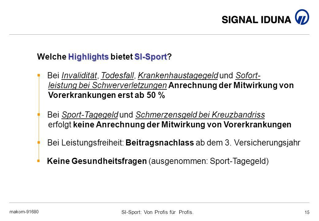 Welche Highlights bietet SI-Sport